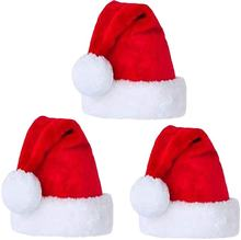 Custom Different Size Santa Hat Velvet Christmas Hats for Adults and Kids Xmas Santa Hats Cap