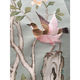 Embroidery birds Chinoiserie silk hand painted wallpaper