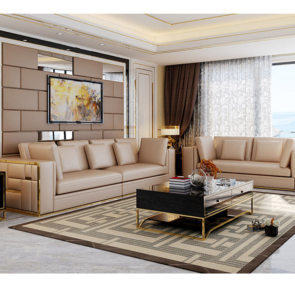 luxury living+room+ leather sofas for home furniture
