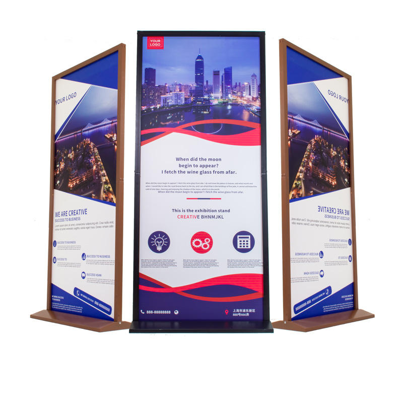 180h x 80w banner stand adjustable Information board bamboo