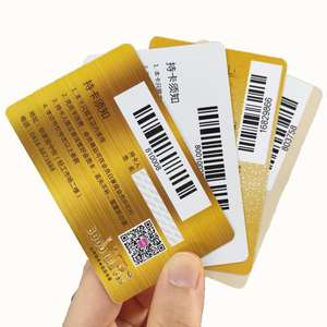 Wholesale plastic CR80 barcode pvc membership gift card