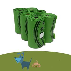 Environmentally degradable corn starch compostable plastic bag biodegradable dog poop bag