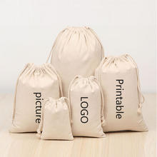 Wholesale promotion cheap and practical storage bag cotton and linen gift canvas drawstring bag, blank or custom logo