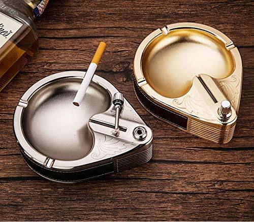 Epsilon Creative Magnesium Match Ashtray Metal Hold 3 Pcs Smoking Supplies Office Accessories Gift(Kerosene Is Not Included)