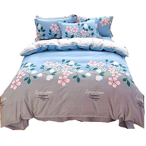 microfiber cartoon style 100 polyester material printed king queen baby bedding sheet comforter set