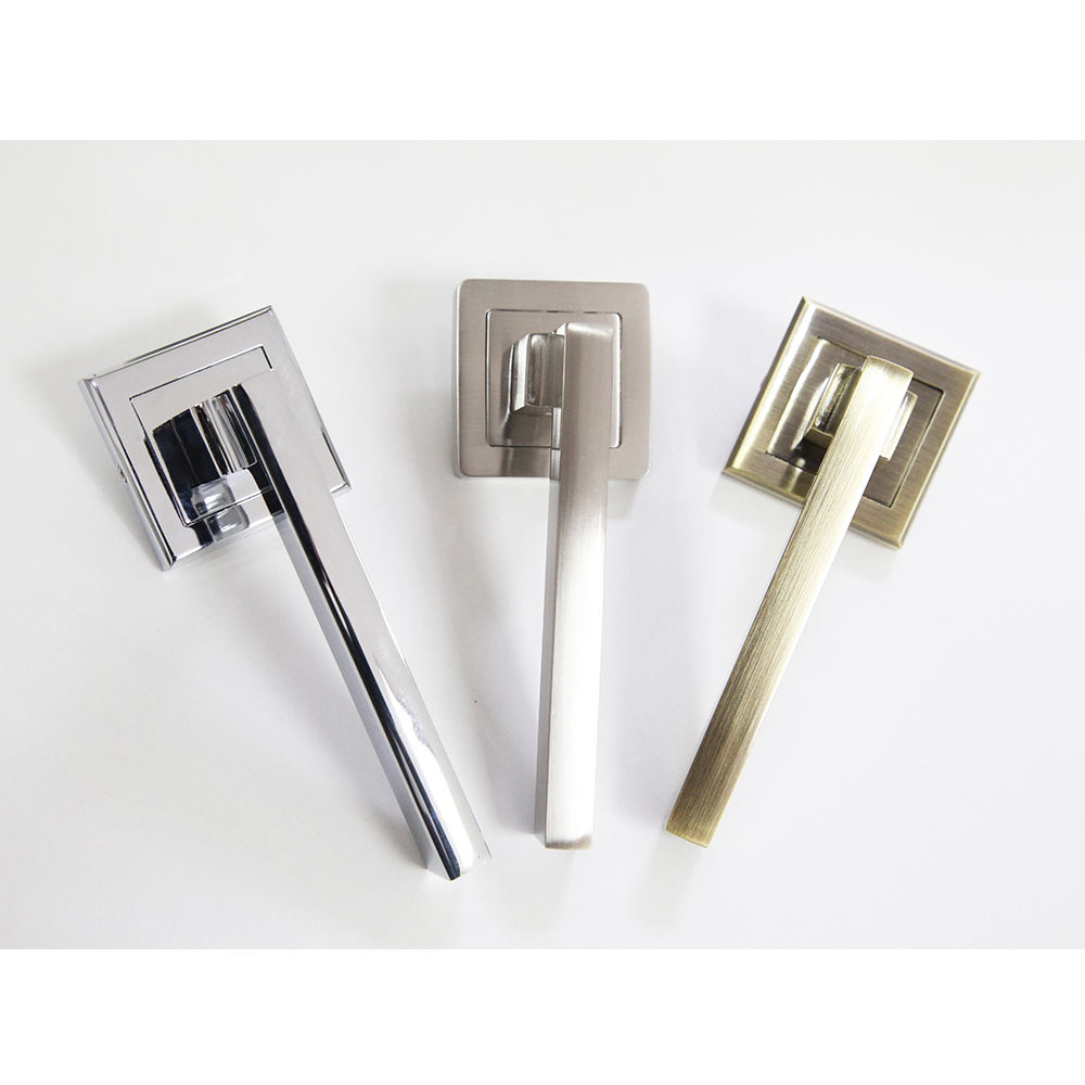 wholesale Modern design outside internal bedroom door lever handle locks set