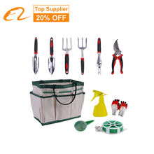 2021 Ronix Gardening Bag Packaging Sets RGTS-6405 Wooden Floral Garden Hand Tools Set Stainless Steel With Gloves