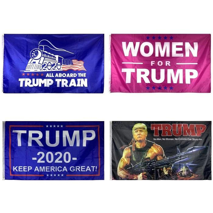 Cheap In Stock Support Donald Trump Flags Banner 2020 Election Keep America Great Women Troops for Trump 3x5ft Flag 3x5