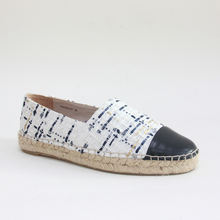 2020 Hot sale rope soled leather hemp  loafers espadrilles flats