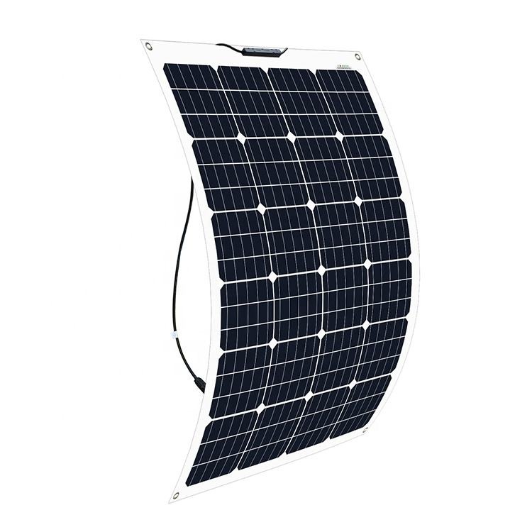 wholesale factory price thin film Pv module mono 130w flexible solar panels for RV,Boats,Roofs
