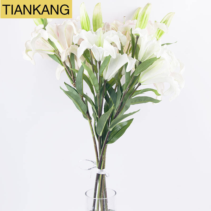 Dried Lily Flowers Artificial Lily Decorative Lily Flower for Decoration flowers