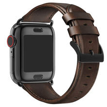 Leather Watch Strap Men's Women's Replacement Apple iWatch Watch Series 5 4 3 2 1 Strap Band