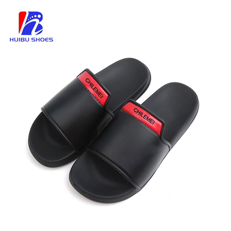 Outdoor Sandals Made In China Plain Slippers Wholesale Men Black Rubber Slides
