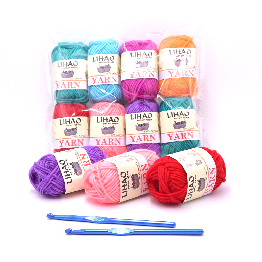 Amazon Supplier OEM 4ply acrylic hand craft yarn for hand knitting