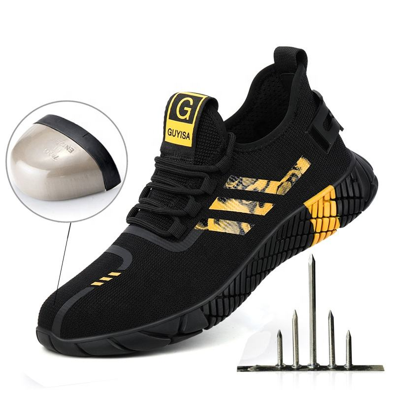 GUYISA security Puncture-proof Anti-slip Lightweight breathable safety shoes to work shoes