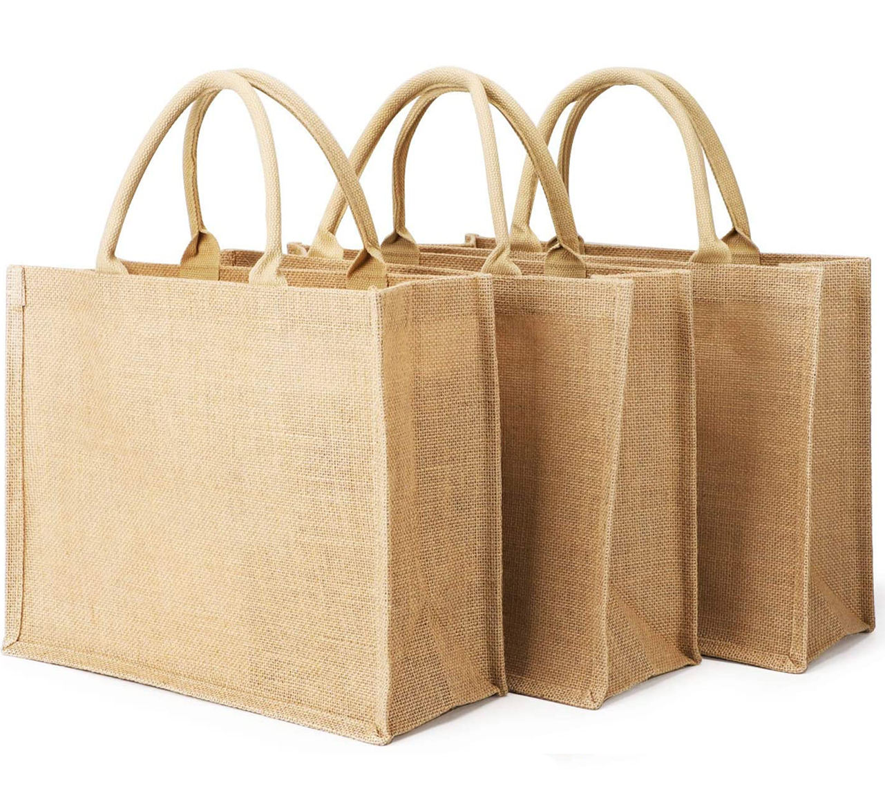 Custom Logo Eco-Friendly Reusable Burlap Grocery Bag Women Shopping Gifts Tote Bag Jute