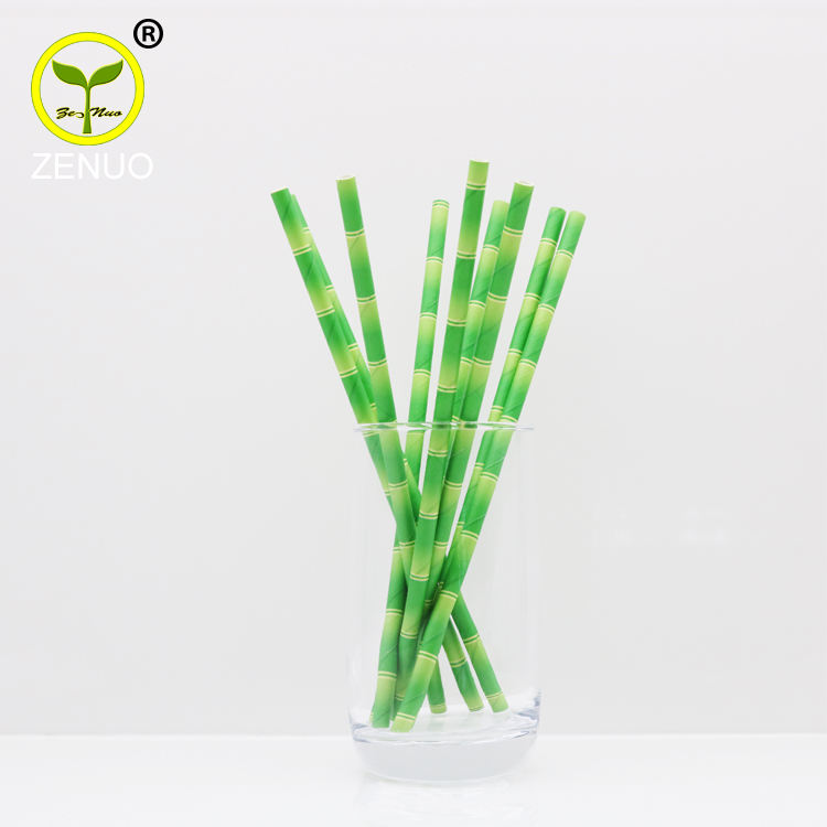 Original factory natural full color drinking striped paper straws