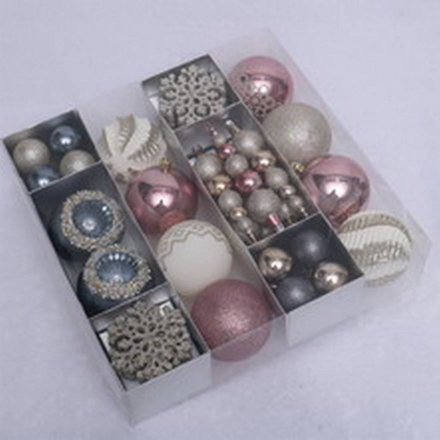 Ball Decoration Made In Yiwu Shuangyuan High Quality Luxury 52pcs Plastic Christmas Ball Decoration
