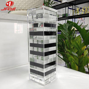 JAYI Acrylic Factory Custom Luxurious Lucite Jenga Classic Chess Game