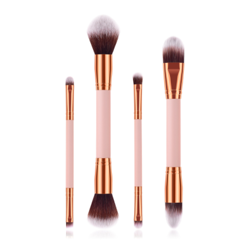 Kuas Make Up Gratis Sederhana Profesional Private Label Kecantikan Kuas Mewah Vegan Kosmetik Foundation Pink Makeup Brush Set