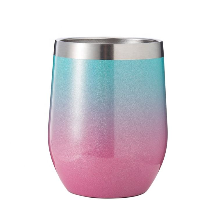 Amazon Hot Selling Custom Ontwerp 12Oz Double Wall Rvs Wijn Tumbler Geïsoleerde Rvs Wijn Cup