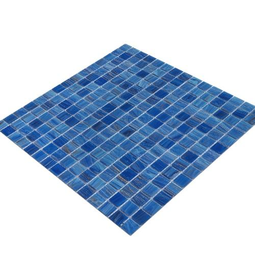 Cheap Blue Square Glass Swimming Pool Mosaic Tile Mosaic Glass