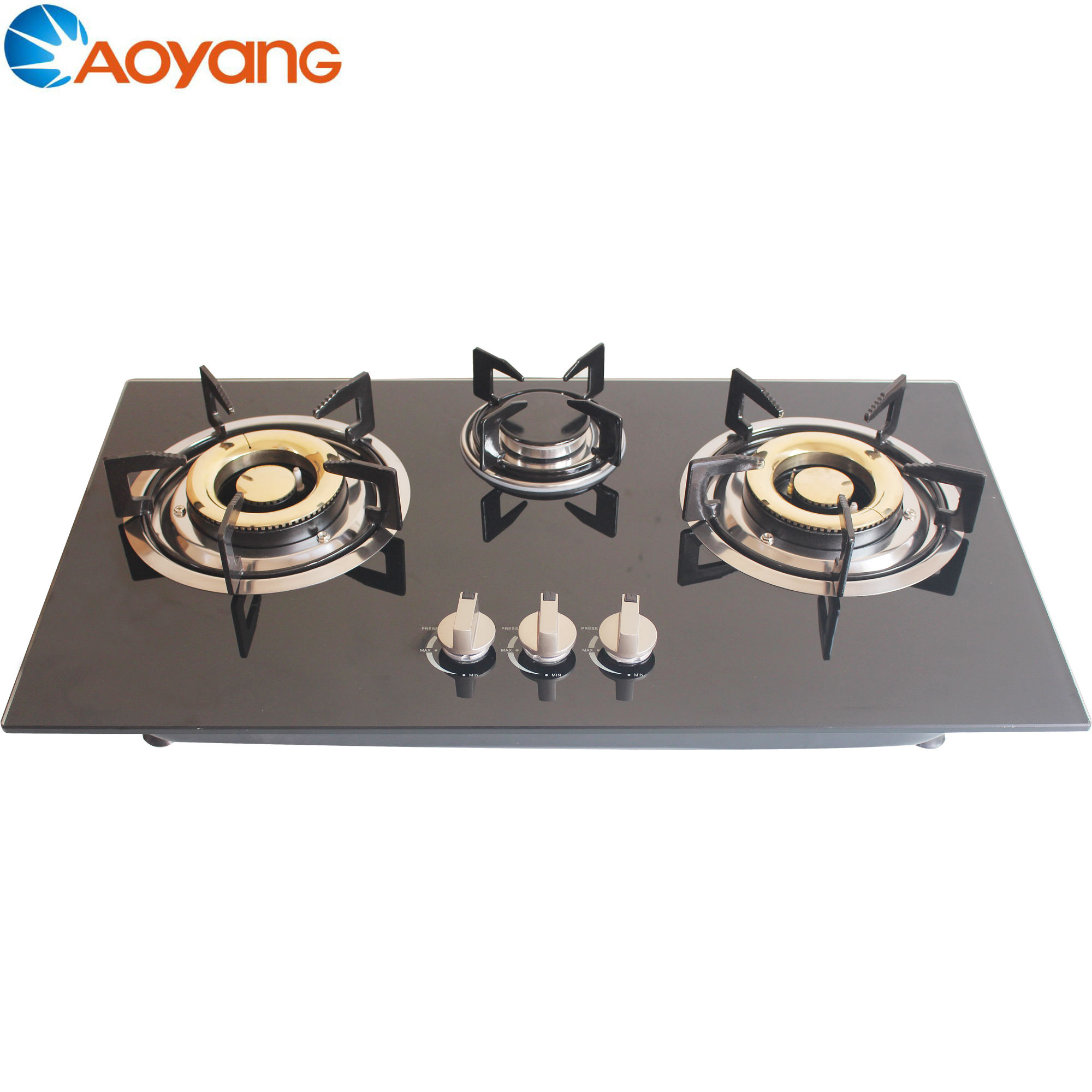 Build-in Gas Hob LPG Gas Cooker Glass Top
