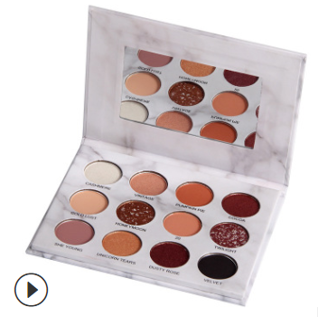 12-color marble eyeshadow palette matte pearly earth color pumpkin color does not smudge beginner eyeshadow