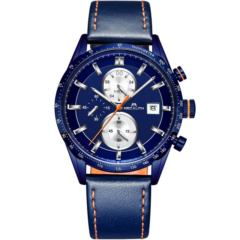 Megalith hot sale analog-digital fashion men watch latest brand sport luxury water resistant stainless steel watch Montre homme