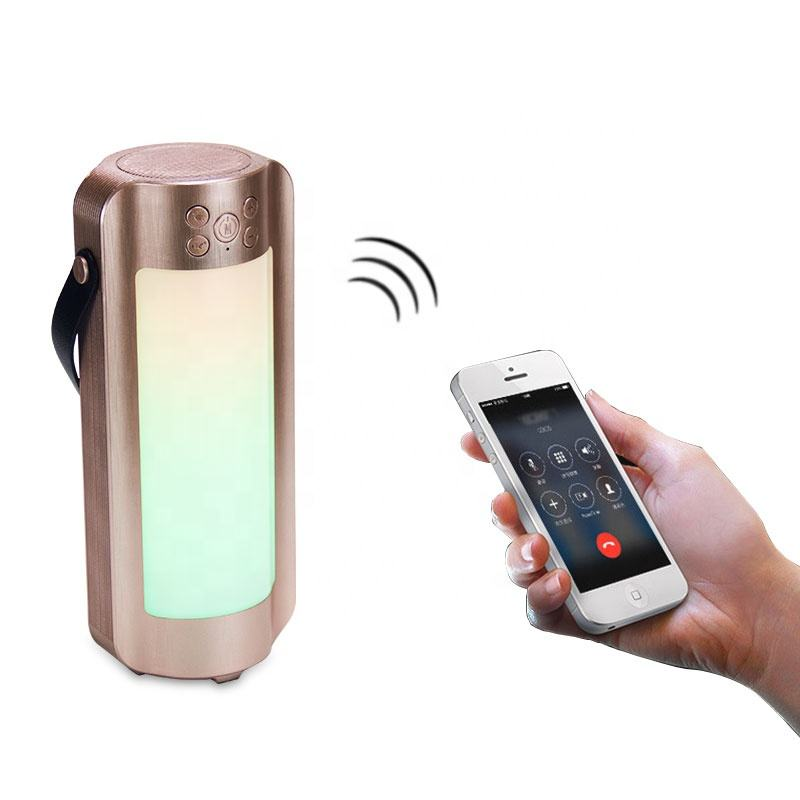 Portable Rechargeable LED TWS Bluetooth Lantern Speaker With Radio/TF/AUX And 10 Color LED Themes Suitable For Camping