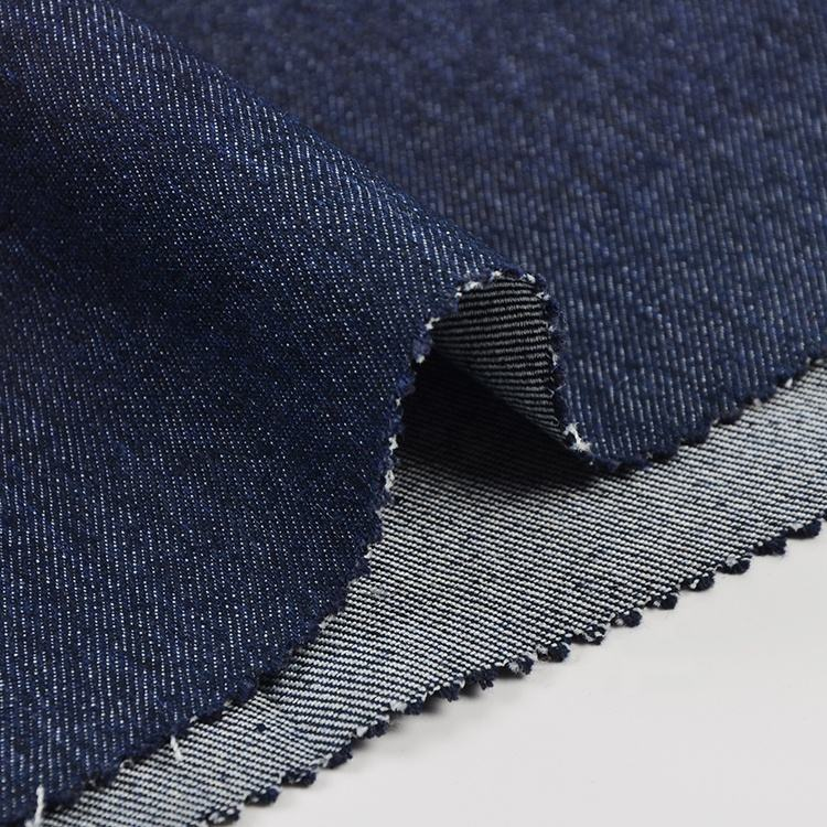 New designs in stock woven cotton polyester spandex stretch denim fabric material price per meter for jeans suppliers