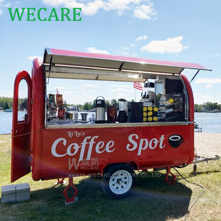 Wecare one stop food trailer manufacturers mobile coffee cart