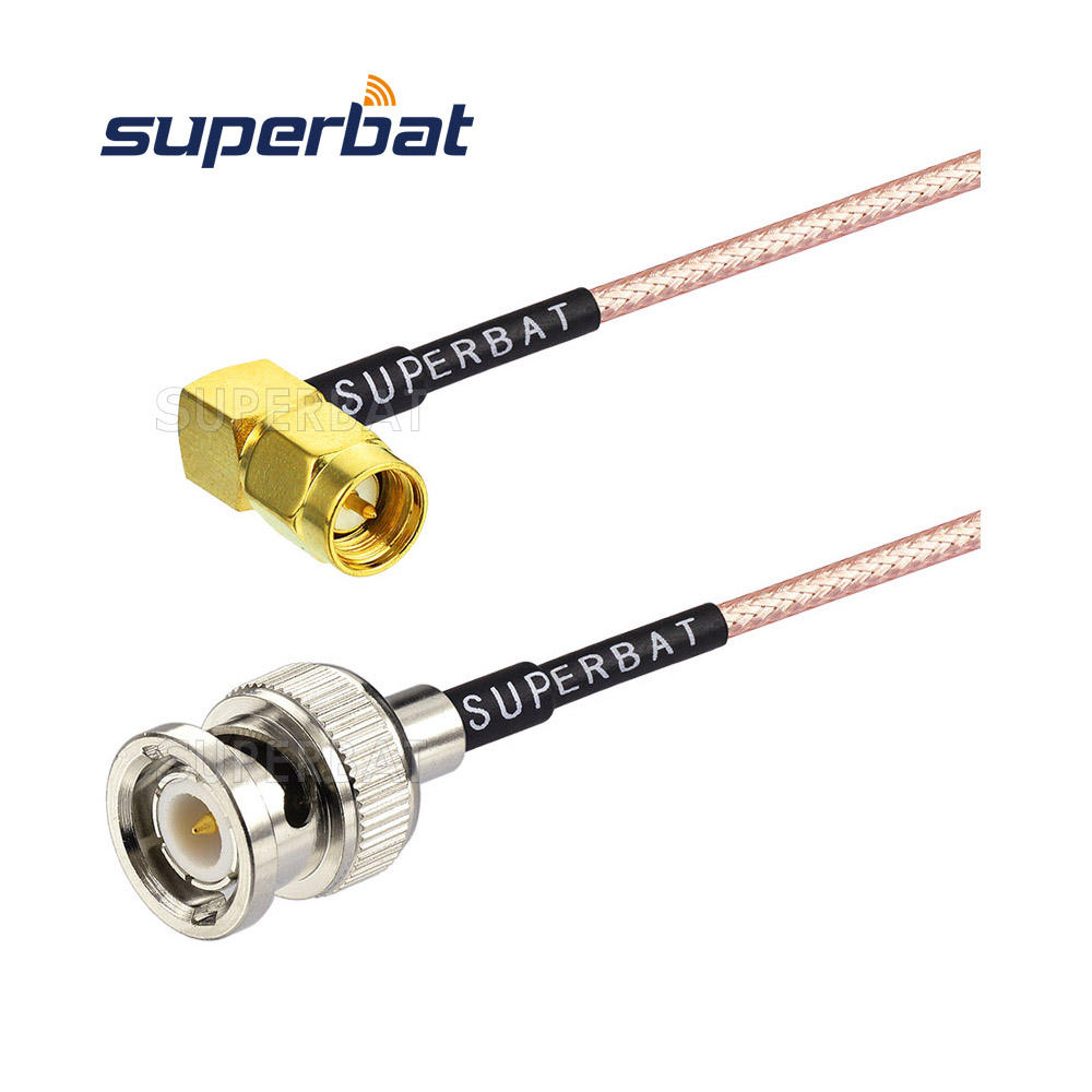 "Low Loss BNC Male to SMA Male RA Connector 20""/50CM RG316 Jumper Extension Cable"