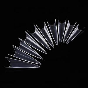 500pcs/bag Sharp Stiletto False Tips long pointed nail French salon nail tips