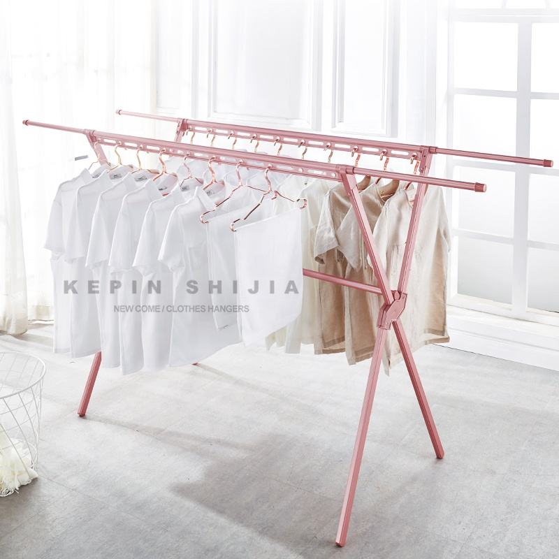 Custom Stainless Steel Showroom Baby Clothes Display Hanger Stand Brass Clothing Drying Rack Cloth