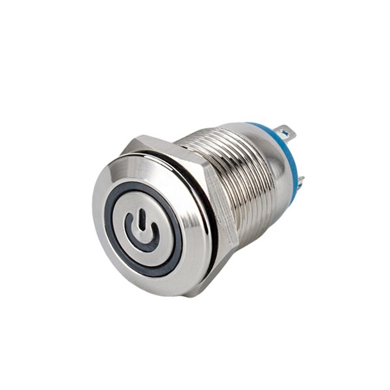 Chinakel 8mm 10mm 12mm 16mm 19mm metal waterproof led light push button switch momentary latching