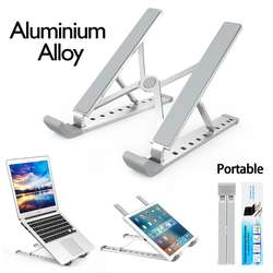 Universal Aluminium Alloy Holder Stand for Laptop and Tablet PC Stands