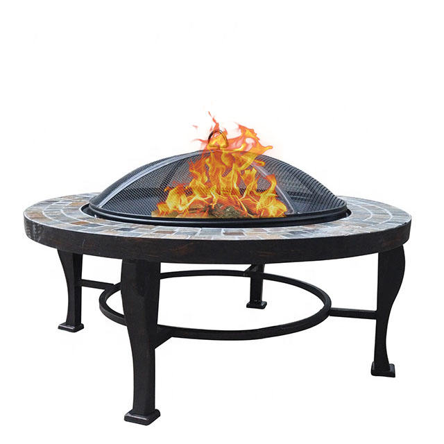 Garden outdoor camping natural stones large fireplace fire pit