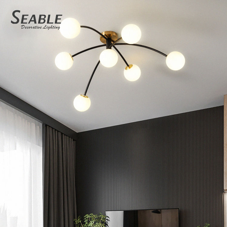 Simple luxury electroplating living room bedroom modern designer nordic ceiling lamp