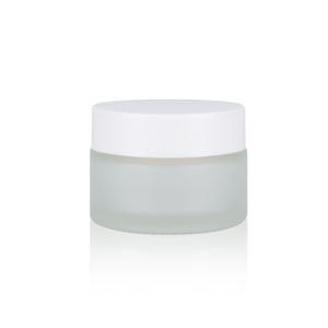 30g clear cosmetics glass containers jar with white cap glass bottle cosmetics containers and packaging