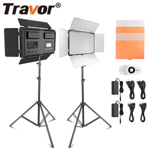 Travor TL-600S 2 Set 3200K/5500K Photography Photo Lighting Studio panel Lamp led Video Light With Tripod