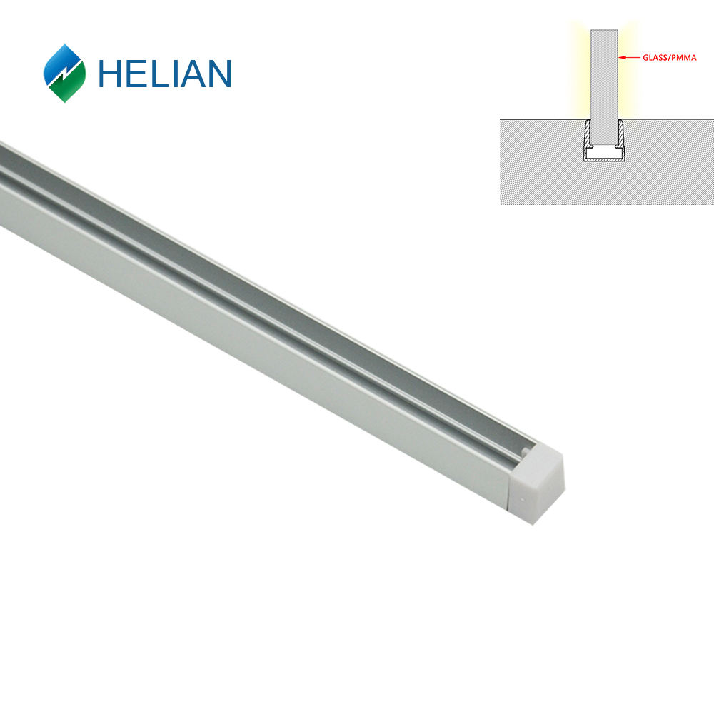 New design slim LED aluminum extrusion u profile for glass channel