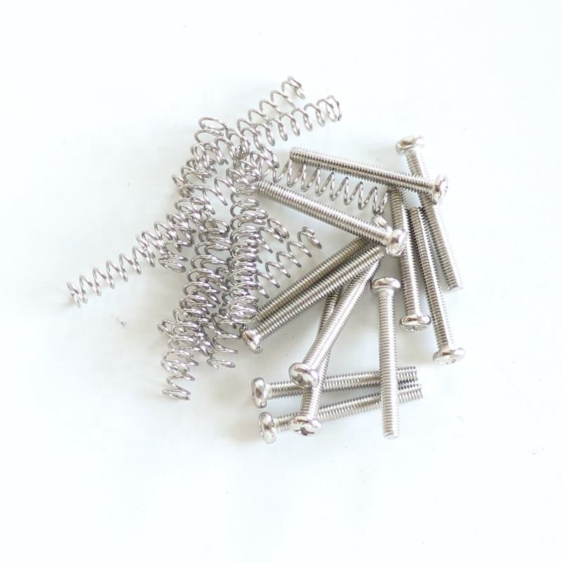 Wholesale 3.0mm Electric Guitar humbucker pickup screws and springs in chrome color