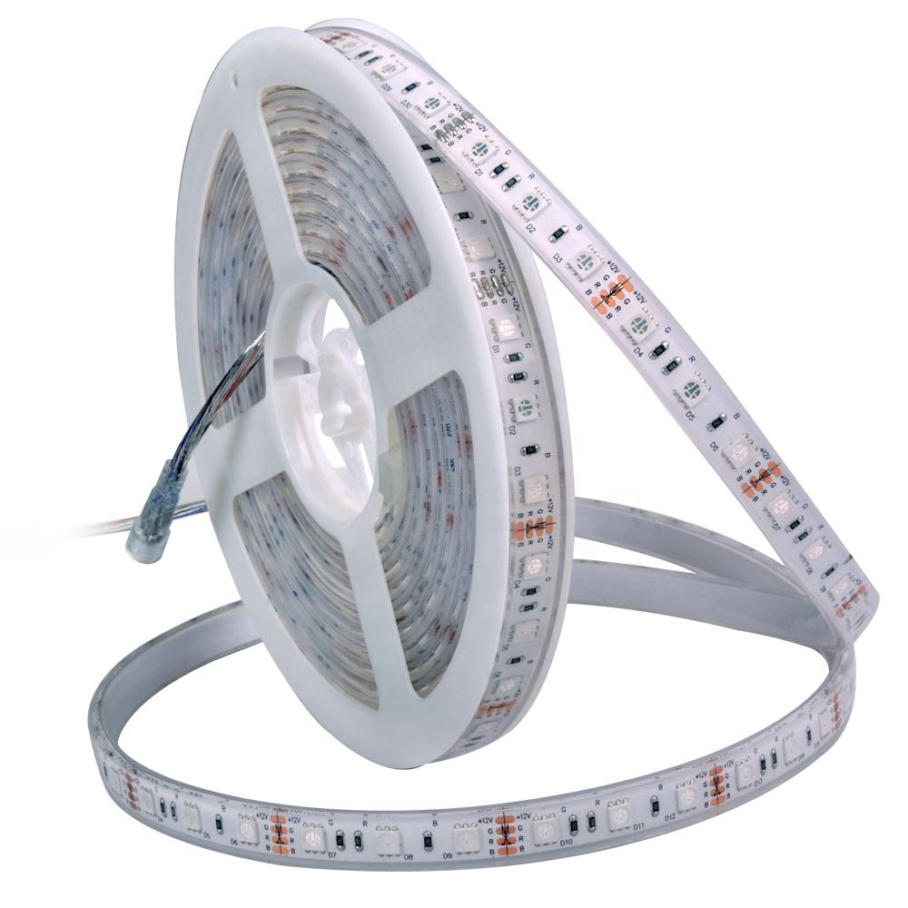 5050 IP68 Silicon Buis Rubber Ingekapseld Outdoor Waterdichte Rgb Led Light Strip