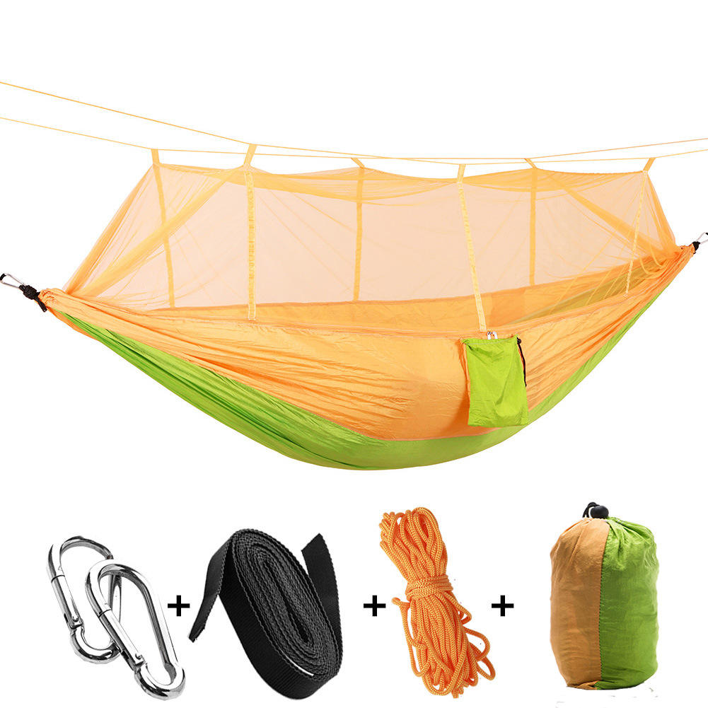 Leichte Nylon Tragbare Dschungel Outdoor Isomatte <span class=keywords><strong>Camping</strong></span> <span class=keywords><strong>Camping</strong></span> <span class=keywords><strong>Hängematte</strong></span> mit Net