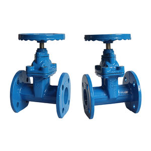 GB DIN JIS ANSI Standard Available Water Seal DN100 Manual Slide Gate Valve