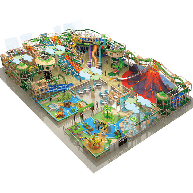 Cheer Amusement 1000 SQM Kids Indoor Play Center Children Soft Indoor Playground Equipment with Volcano, Giant Slide, Soft Plays