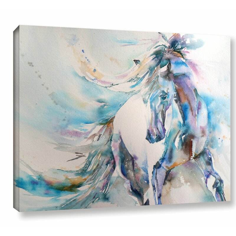 Horse by Liz Chaderton Print on Canvas Living Decor Abstract Animals Watercolor Prints Modern Poster