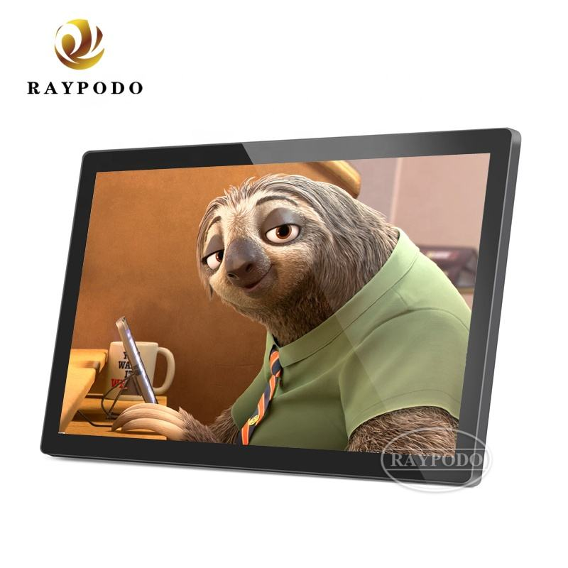 Raypodo 22 inch 24 inch LCD Android Advertising Player/Display/TV/Monitor With 1920*1080 Resolution