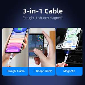 TYH 1M 2M New 540 Degree Rotate Magnetic Cable Micro USB Type C Fast Charging Phone Magnet Charger For Samsung Xiaomi Huawei